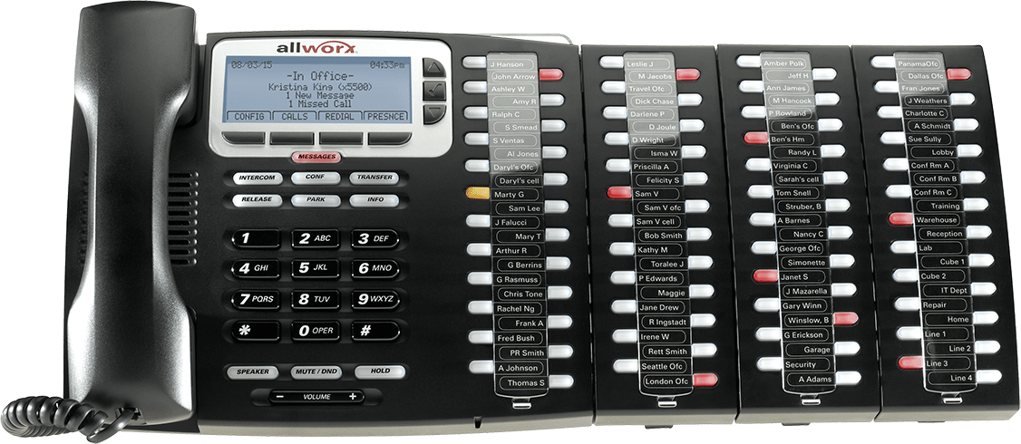 Allworx 9224 with three Tx 92/24 Expanders